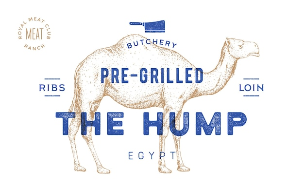 Affiche voor slagerij vleeswinkel