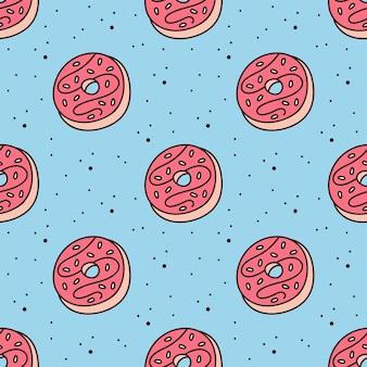 Afgerond dessert naadloos patroon