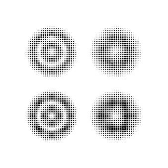 Afgerond en vierkant geometrisch halftoonontwerp