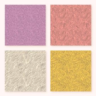 Afgeronde lijnen abstract patroonpakket