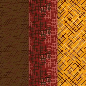 Afgeronde lijnen patroon sjabloon set