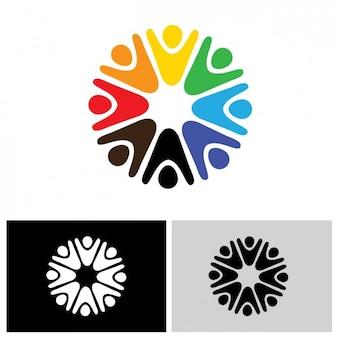 Afgeronde logo design