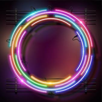 Afgeronde neon achtergrond