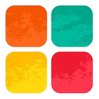 Afgeronde vierkanten noodlijdende frames textuur achtergrond