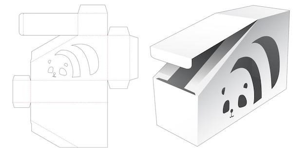 Afgeschuinde doos met panada cartoon-vormige raam gestanst sjabloon