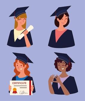 Afgestudeerde groep vrouwen