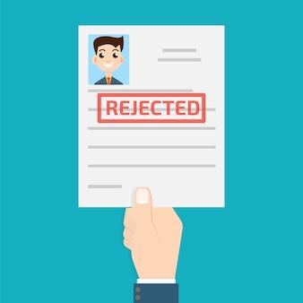 Afgewezen papier