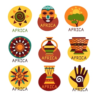 Afrika kaart logo pack