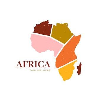 Afrika kaart logo