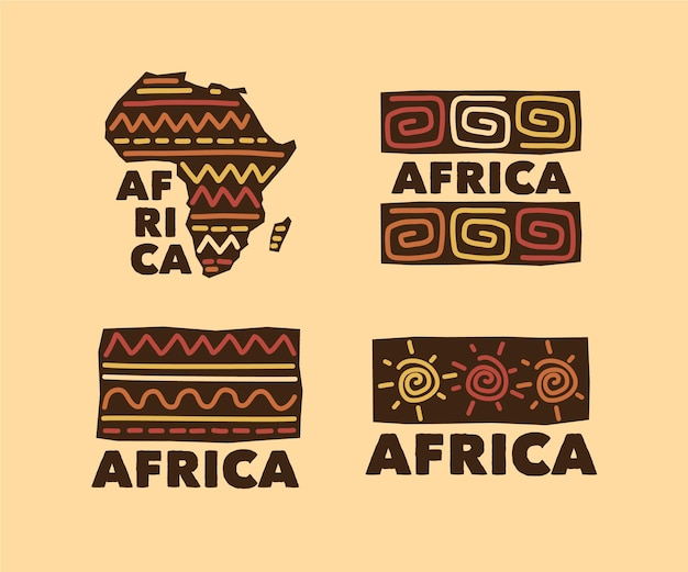Afrika logo collectie