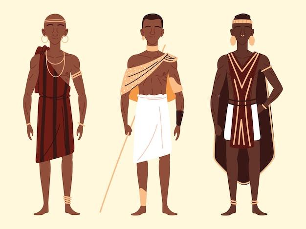 Afrika mannen karakters