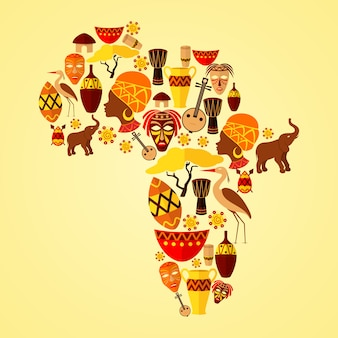 Afrika-samenstelling met elementen