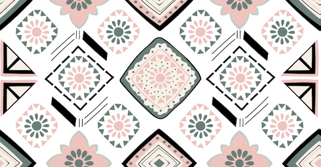 Afrikaans geometrisch naadloos patroon