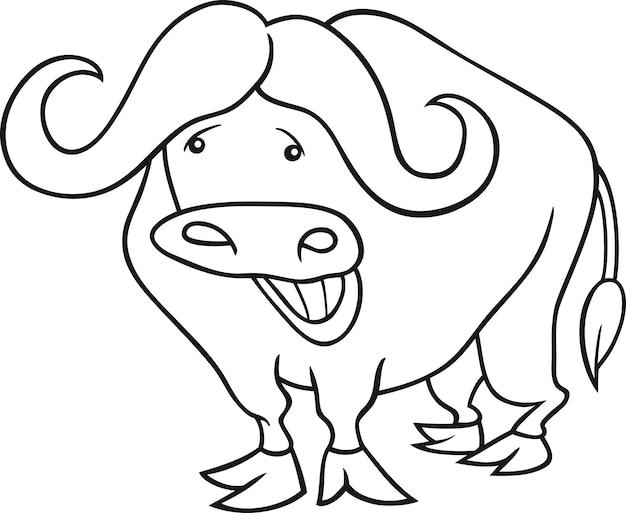 Afrikaanse buffel voor kleurboek