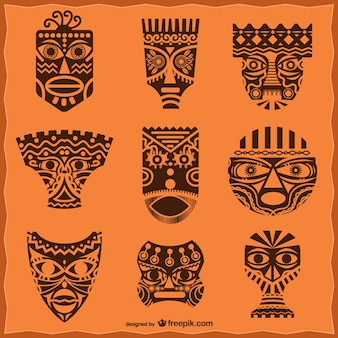 Afrikaanse maskers pakken