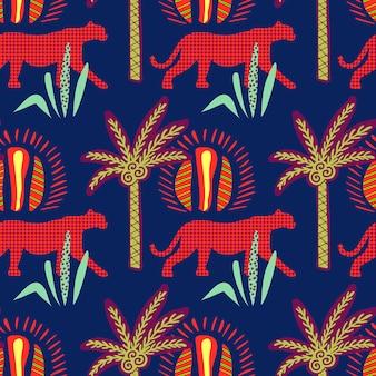 Afrikaanse naadloze patroon.