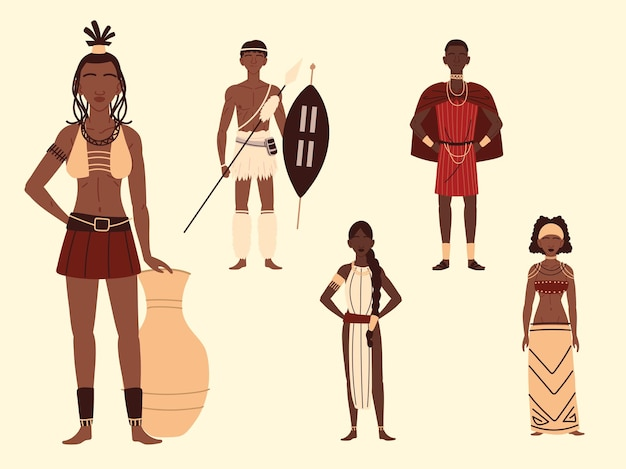 Afrikaanse personages