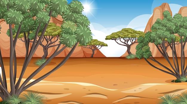 Afrikaanse savanne boslandschap scène overdag at