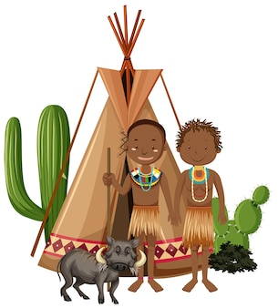 Afrikaanse stammenfamilie geïsoleerd