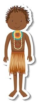 Afrikaanse tribale man stripfiguur sticker