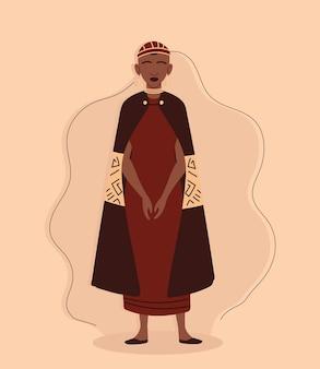 Afrikaanse vrouwelijke aboriginal Premium Vector