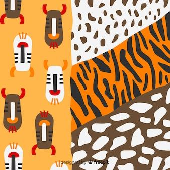 Afrikaanse weefsel en dierenhuid achtergrond
