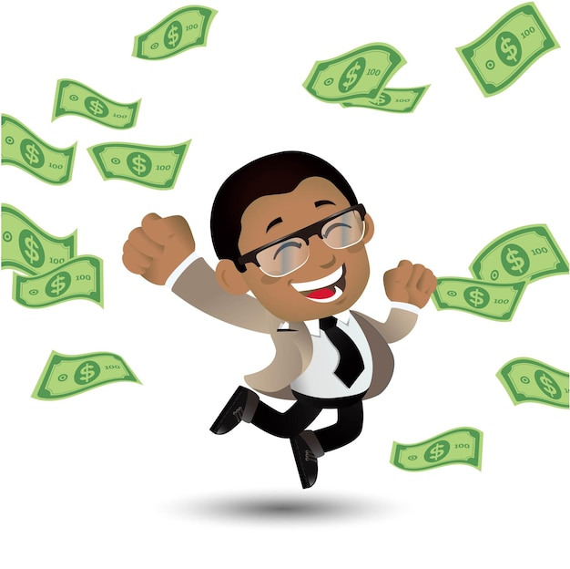 Afrikaanse zakenman Premium Vector