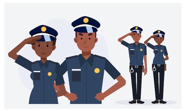 Afro-amerikaanse politieagent