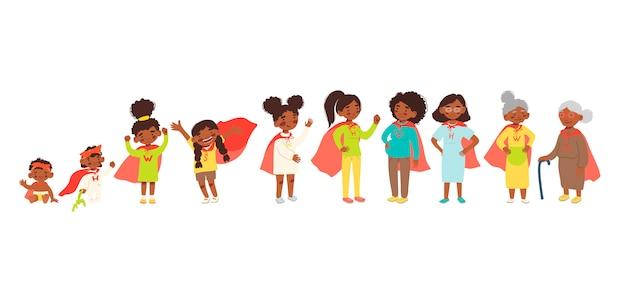 Afro-amerikaanse vrouwen in een superheldpak