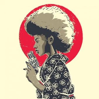 Afro gal ontwerp