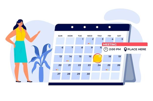 Afspraak boeken met geïllustreerde kalender