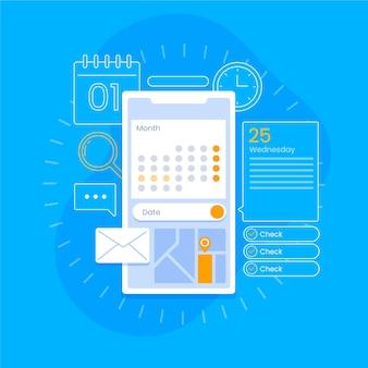 Afspraak boeken op mobiele telefoon en e-mails
