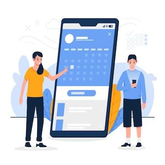 Afspraak boeken op mobiele telefoon