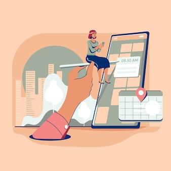 Afspraak boeking concept met smartphone