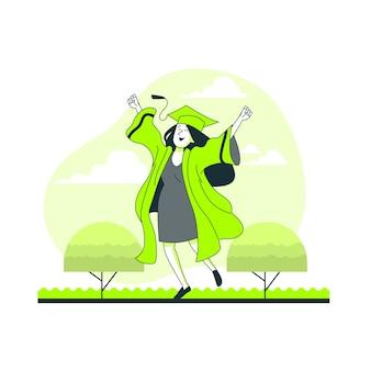 Afstuderen concept illustratie