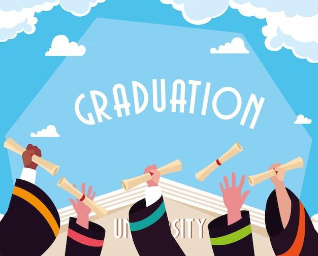 Afstuderen diploma in viering