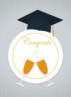 Afstuderen gefeliciteerd ontwerp