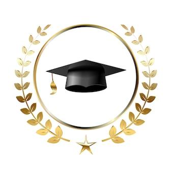 Afstuderen logo sjabloon ontwerpelementen.