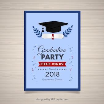 Afstuderen uitnodigingssjabloon