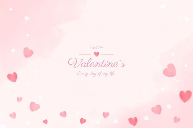 Aftelkalender voor valentijnsdag aquarel achtergrond