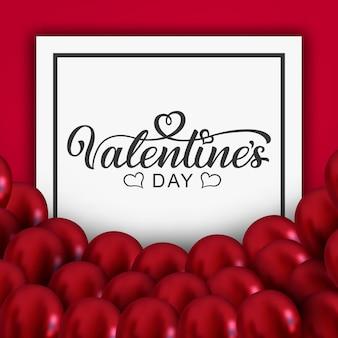 Aftelkalender voor valentijnsdag hand getrokken belettering. klaar kerstkaart. kalligrafie inscriptie.