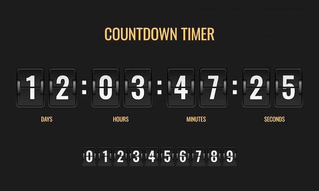 Afteltimer. meter scorebord digitale horloge mechanica teller informatie omlaag aantal tellen klok dag sjabloon