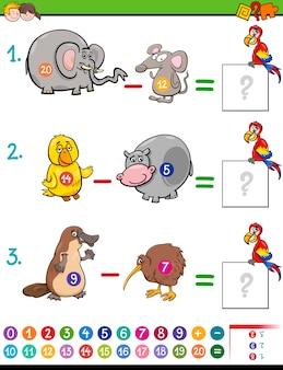 Aftrekken educatief spel voor kinderen