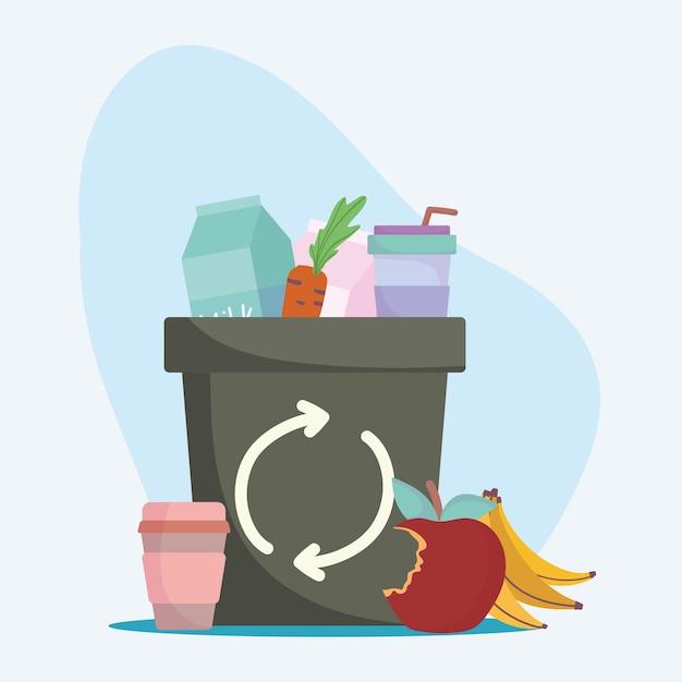 Afval organisch en recycle