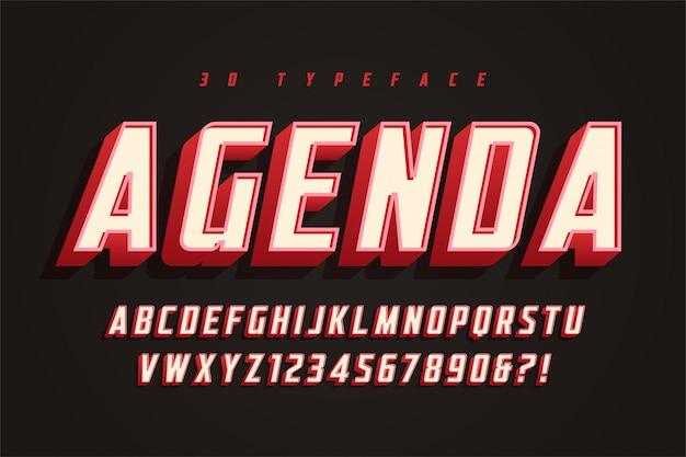 Agenda weergave lettertype ontwerp, alfabet, lettertype, letters en gevoelloos