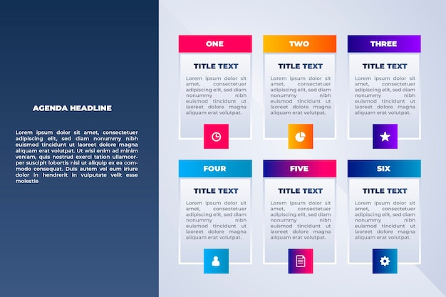 Agendagrafiek voor infographic