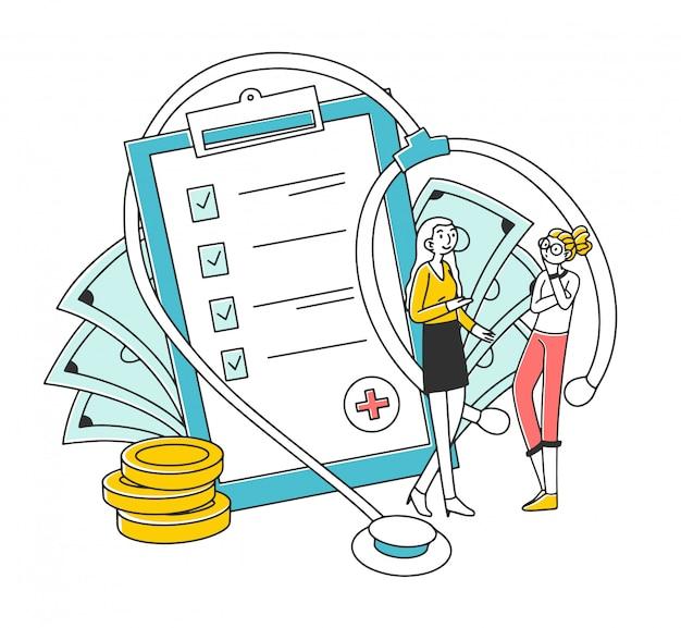 Agent en cliënt die ziektekostenverzekering bespreken