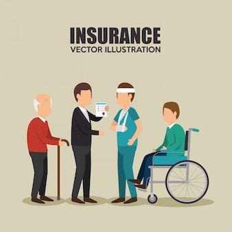 Agent verzekering gezond ontwerp