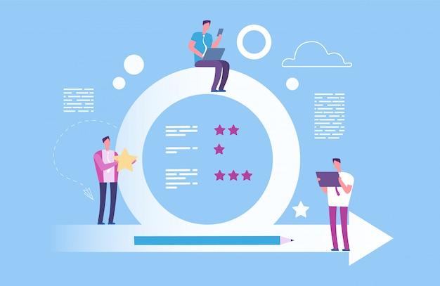 Agile concept. vector behendige metodoligie illustratie. effectieve organisatie van het proces om doelen te bereiken