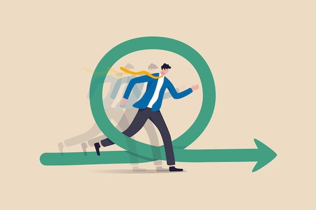 Agile methodologie voor bedrijfs- of softwareontwikkeling, flexibiliteitswerk in een modern bedrijfsmanagementconcept